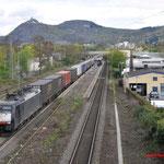 16 April 2016:  Bad-Honnef / 189 090 SBB Met BAS-GTS-trein van rotterdam naar Melzo
