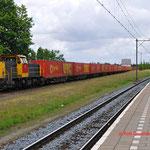 25 Juni 2014: Geleen Lutterade / 6455 DBS Met UBC Containertrein naar Lutterade DSM