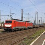 23 Augustus 2017: Duisburg-Bissingheim / 189 072,189 082 Met een staalrollentrein richting Duisburg Entenfang.