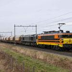 14 Februari 2014: Heeze / 4401 RRF (1606) met 653-05 met een lege dolimetrein naar Sittard