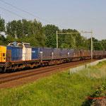 24 Mei 2012: Eindhoven / 203-1 VR-Locon met de beladen huisvuiltrein opweg naar wijster.