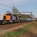 2 April 2014: Eindhoven/ 1798,7109,7107 in tripeltractie met vertraagde Blerick-shuttle 50077 uit Blerick naar Maasvlakte.
