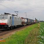 4 Juli 2014: Breyel / 186 251 BLS Met Melzo shuttle naar de Waalhaven-zuid