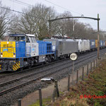 20 December 2012 : Eindhoven / 1202 ERS + ERS 189 212 + CRS 186 239 + Melzo-Shuttle (40105)