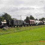 Beekbergen: 7742 Met goederentrein 788 met achterop de 3 van de SGB. Onderweg van Beekbergen naar Apeldoorn Vam