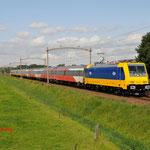 13 Augustus 2014: Hulten / 186 001 NS als testrein opweg naar Tilburg.
