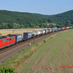 18 Juli 2014 : Harrbach / 151 061 DBS Met Verona shuttle richting Wurzburg.