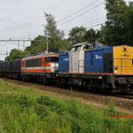 18 Juli 2012: Eindhoven/  203-2 VR met locon 9905 met de vuiltrein 50094 uit haanrade naar de vam.
