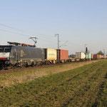 23 Februari 2018: Breyell / 189 280 TXL Met een containertrein richting Kijfhoek.