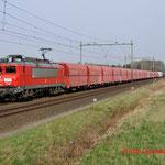 30 Maart 2014: Heeze / 1604 DBS Met kalk-staal trein naar Sittard (49663)