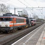 3 April 2016: Eindhoven Strijp-S / Locon 9902,7110 en Captrain 1619 vanuit Venlo onderweg naar Kijfhoek.