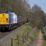 28 Maart 2012: Eygelshoven/ 203-2 Locon-Vr Met de beladen huisvuiltrein (50094) opweg naar maastricht