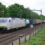 8 Mei 2014: Eindhoven / 186 150 Locon met de Bologna shuttle richting Venlo
