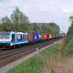 10 April 2014: Eindhoven/ 186 110 RTB Met een Blerick shuttle naar de Maasvlakte (51403).
