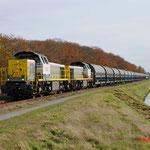 31 Oktober 2014: Budel / 7782 NMBS,7780 Met lege zinktrein richting Neerpelt.