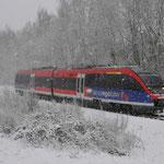 24 Januari 2015: Landgraaf / 643 211 Als stoptrein naar Heerlen.