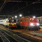 19 Januari 2018: Venlo / 110 491 BTE Met Alpen Express 13487 naar Schladming en Bludenz links de RXP 1251.