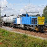 29 Augustus 2014: Eindhoven / 1505 Locon met keteltrein naar keulen (45705).