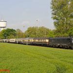 26 April 2014: Dulken / 189 284 TXL Met de rheingold express van Rail magezine  richting Viersen