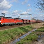 4 April 2015: Oisterwijk / 189 039,189 042 Met een lege erts trein naar de Maasvlakte.