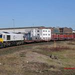 12 Maart 2015: Duisburg / 247 029 DB Met een lege staal trein richting HKM