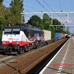 1 Juli 2014: Eindhoven Beukenlaan / 189 213 ERS Met Weil am Rhein-shuttle naar de Maasvlakte