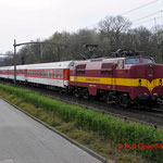 30 Maart 2014: Eindhoven / 1254 EETC Met 9 rijtuigen als ledig materieel terug naar duitsland ivm beëindigen wintersport seizen