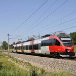 7 Juni 2016: Silberwald / 4024 097 als testtrein richting Ganserndorf