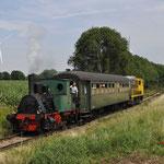 9 Juli 2017: Bocholtz / 3 'Anna' van de RWTH met trein 316 van Vetschau naar Simpelveld. Achterop nog de 2205 van de SHD.
