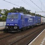 7 September 2017: Helmond Brouwhuis / 186 268 Rhenus -Crossrail Met Ekol trein naar Zeebrugge.
