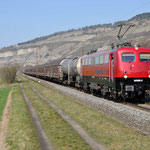 17 Maart 2016: Thungersheim / 140 856 Bayerbahn met de Henkelzug richting Wurzburg