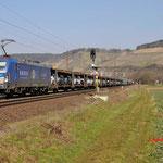 17 Maart 2016: Himmelstadt / 193 848 EGP Met een auto trein richting Wurzburg.