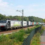 18 September 2014: Eindhoven/ 189 103 RTB met een Blerick shuttle onderweg richting Kijfhoek.
