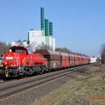 12 Maart 2015: Duisburg / 265 031 DB Met een kalktrein richting HKM.