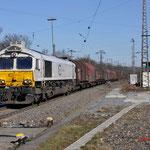 12 Maart 2015: Duisburg-Hochfeld / 247 035 DB Met staaltrein richting HKM