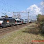 24 Maart 2014: Nuenen / 189 099 Locon met beladen fordtrein naar de sloehaven (40708)