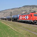 17 Maart 2016: Thungersheim / 185 588 HGK Met een keteltrein richting Wurzburg