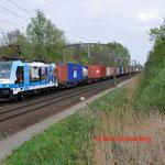 10 April 2014: Eindhoven / 186 110 RTB Met een Blerick shuttle naar de Maasvlakte (51403)