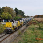 31 Oktober 2014: Overpelt / 7782,7780 Met lege zinktrein richting Antwerpen.
