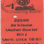 Veghel: 28 maart 2005 / Trein kaartje