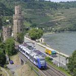 21 Juni 2017: Oberwesel / 622 937 Als trein RE 29657 naar Kaiserslautern Hbf
