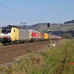 17 Maart 2016: Himmelstadt / 189 995 Met een hupac trein richting Wurzburg