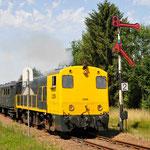 11 Juli 2015: Simpelveld / 2205 SHD Met 3 blokkendoos rijtuigen als trein 33001 naar Kerkrade ZLSM