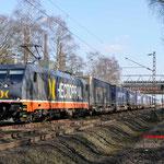 27 februari 2016: Bottrop-Welheim / 241 011 Hectorrail met een Hupac trein richting oberhausen