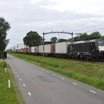 8 Juli 2016: Boxtel / 189 094 RRF met de MannheimWörth-Shuttle.