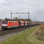 18 November 2017: Horst / 189 043 DBC met lege ertstrein (48720) richting Eindhoven.