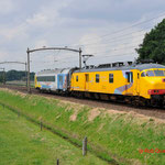 27 Juni 2014: Hulten / BRT-91 Jules Eurailscout met b telecom rijtuig richting Tilburg