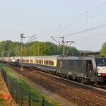 26 April 2014: Venlo / 189 284 TXL Met ledig materieel met de rheingold express van Railmagezine naar Venlo station.