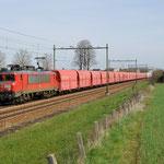 12 April 2015: Echt / 1604 DBS Met Kalktrein naar Sittard