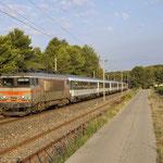 31 Juli 2016: Saint-Cyr-sur-Mer / 122280 Met trein D 4283 van Strasbourg naar Nice. Hier met ongeveer +15 bij St cyr.
